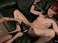 Gorgeous dolls Donna and Jessi Palmer gets their wet snatch punished