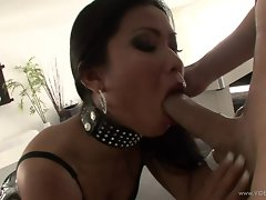 Sexy slut Priva gets a huge dick shoved down her throat