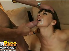 Want some cookies with that milk?  Hot Maria Bellucci gets white creamy jizz