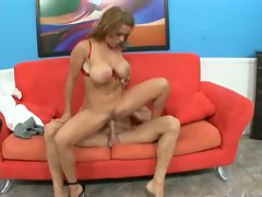 Sienna West runs her dripping pussy all over a huge rock solid cock.