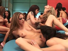 Alana Evans with massive lesbians wild and get orgies