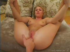 Super hot Sabrina Snow love having a finger pushed tight in too her little ass