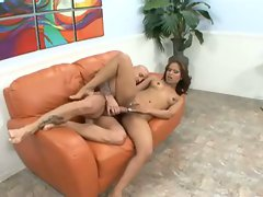 Brunette Gaya Patel squirts like old faithful after getting it deep and hard
