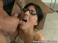Zoe Holloway gets slammed hard then takes a big load from her male friend