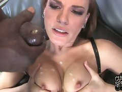 Dana De Armond let partner watch her cum fill by black