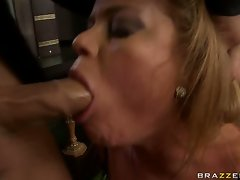 Nikki Delano lusty blonde mouth playing a hard dick