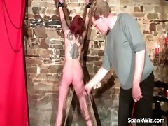 Sexy tattooed slut gets tied and hot ass part3