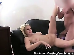Big Titted Blond Wants To Be a Porn Star