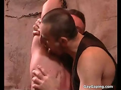 Two fetish gays in leather masturbate and fuck their asses