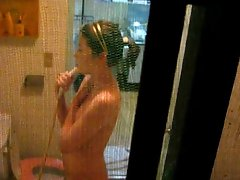 window voyeur on korean girl showering