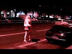 tranny hooker on the street public prostitute katja