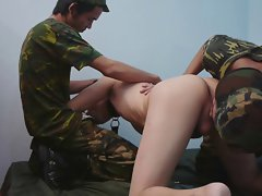 Military Twinks Threesome