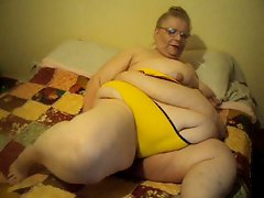 yellow bra and panties playing