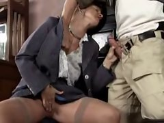 Blonde Mature Masturbating and Fucks First Guy  by TROC