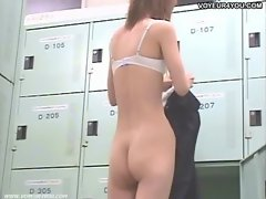 Completely Exposed Girl Locker room