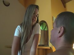 Very beautiful young latina getting worshipped by her houseslave