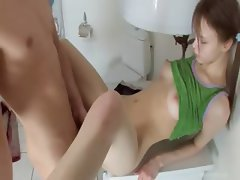 Sweet Beata chick banged in the bathroom