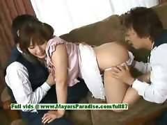 Nao Ayukawa innocent cute chinese girl enjoys her friends fondling her cute pussy