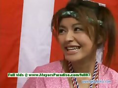 Yuzuru Japanese innocent asian beauty is talking about sex