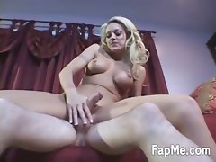 Big breasted girl wanking a large dong
