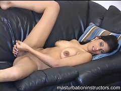 Young naked babe sexy masturbation instruction