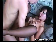 Amateur girlfriend homemade blowjob and fuck with facial cumshot