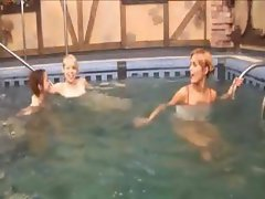 Three american teenies in the pool