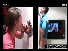 Teenie gets tricked into gay BJ on gloryhole