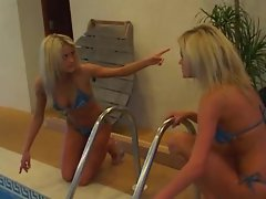 Two blondes that look like twins get fucked