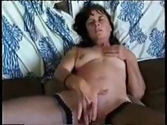 Mom masturbating as he films