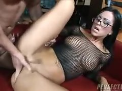 A slow ass fuck turns into furious thrusting