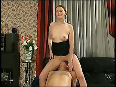 Older guy and a young chick exchange oral