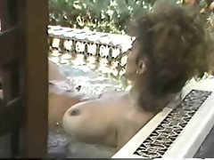 Erica Boyer &amp, Christy Canyon in the Hot Tub