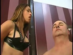 Beautiful Femdom Vixen Aie Spits All Over Guys Face