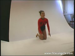 Young ballerina irina bends like a pro