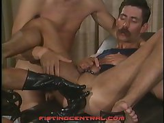 Hardcore gay anal fisting and fucking threesome vintage fun