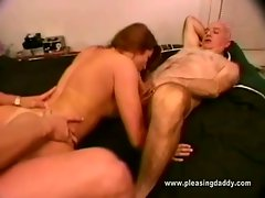 Gorgeous brunette shanna mccullough fucking two horny daddies