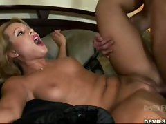 Two hot babes share one big cock to fuck
