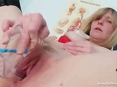 60 year old naughty nurse gets the toy check