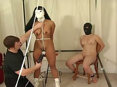 Bondage dolls get tortured by their master!