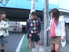 Nasty japanese teen babes over powering pathetic dad