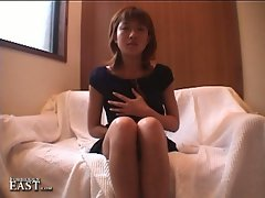 Cute japanese teen masturbates