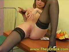 Ira is a cute amateur girl and she's drinking quite a bit as this hot...