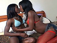 These black bad girls just love the taste of cunt!  They\'ve just...