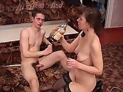 A drunk mature always fucks the object of her wild desires! Want to...