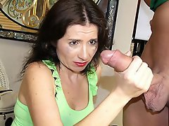 Mom Tatiana is sleeping when young Billy takes notice. The horny guy...
