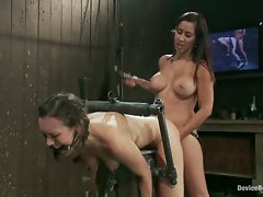 Sinn Sage and her big, sweet ass get bent over, metal bound, and...