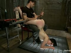 Hot slave slut get used and whipped hard...