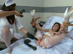 Head nurse Isis Love teaches the new nurse a lesson with bondage,...