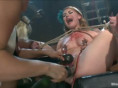 Isis Loves sexy fuck doll gets tied up and fucked hard with...